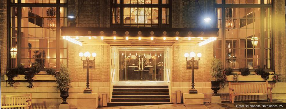 Elegant shading in an historic hotel hotel bethlehem for The floor show bethlehem pa