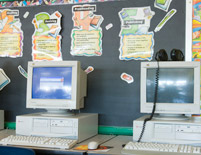 Grover Cleveland Elementary School Computer Room