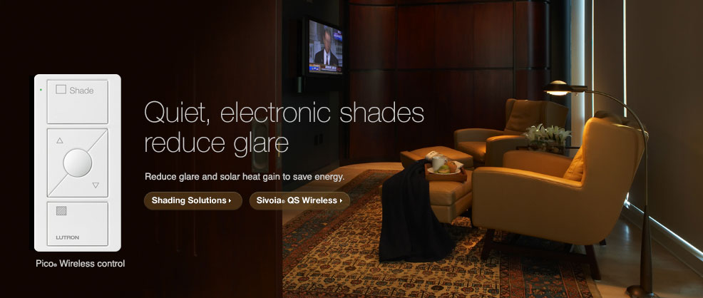 Quiet, electronic shades reduce glare