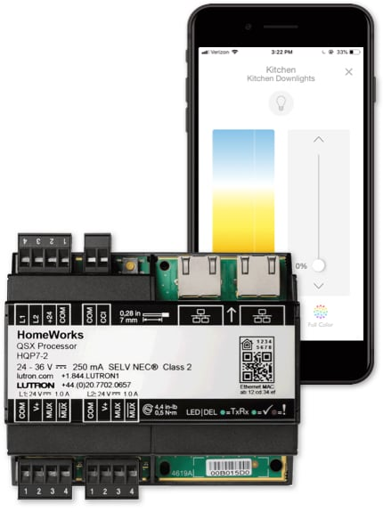 HomeWorks with Lutron App