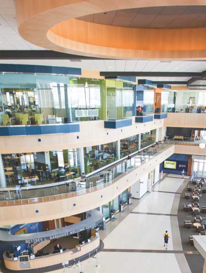 College student center with Vive Wireless lighting system