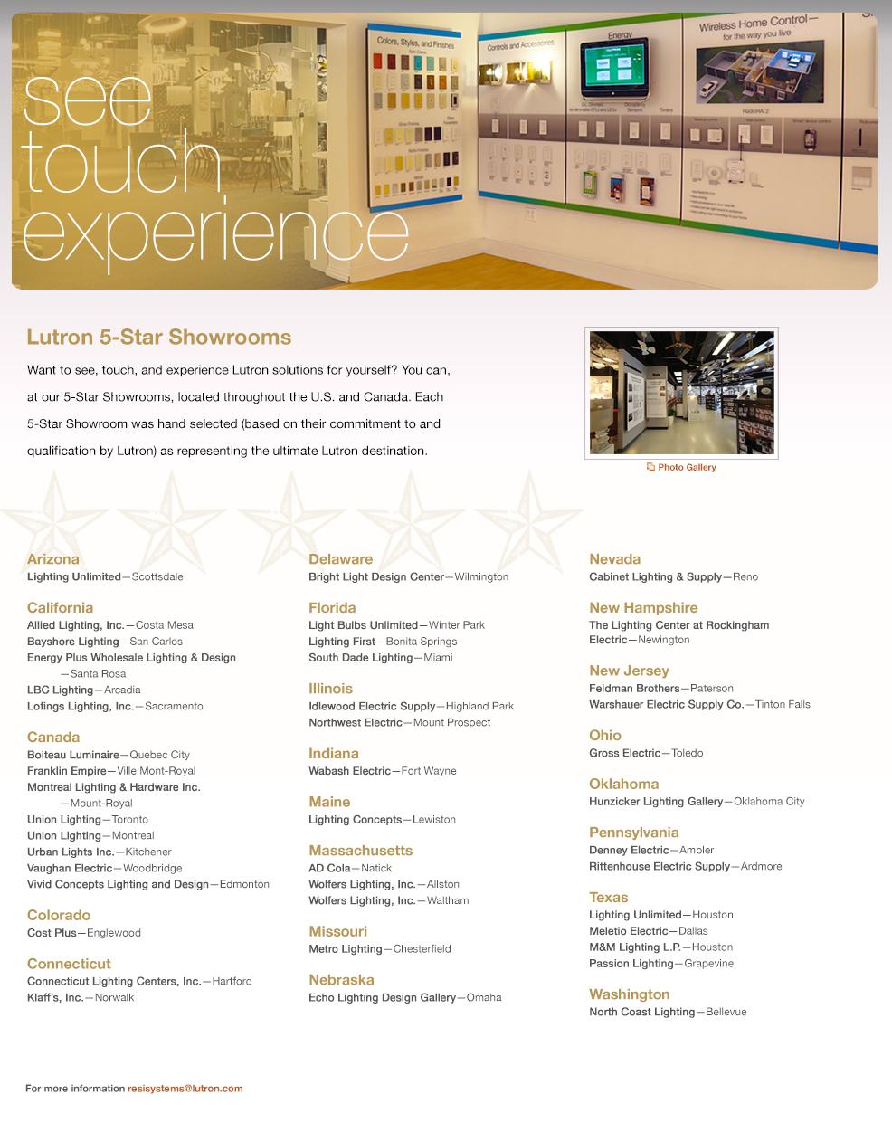 sc 1 st  Lutron & Lutron 5-Star Showrooms