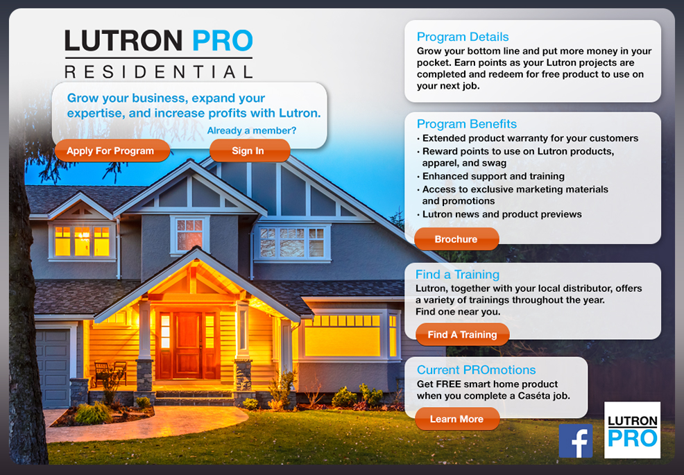 PRO promo site_final lutron pro residential contractor program  at creativeand.co