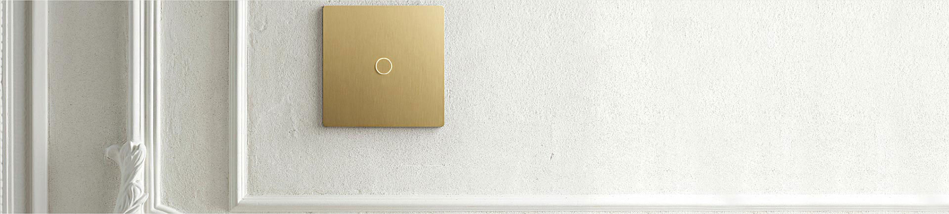 Wall-mounted single column, 1-button Alisse keypad