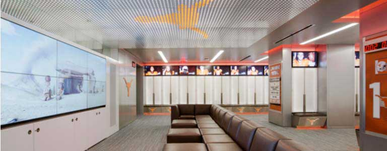 Longhorns locker room