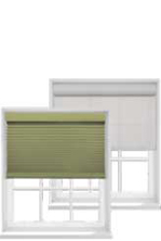 Serena Honeycomb and Roller Shades