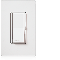 Lutron Diva Eco-Dim 600 W 120 V 60Hz Single-Pole//3-Way Preset Eco Dimmer White