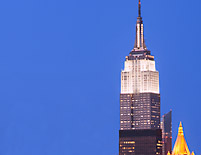Exterior View of the Empire State Building, The Empire State Building design is a registered trademark and used with permission by ESBC