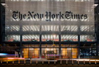 New York Times Front Entrance