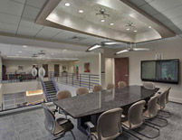 Conference Room Featuring Ivalo L'Ale Pendant Fixtures