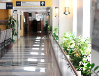 healthcare facility corridor